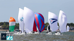 J/70s sailing Charleston Race Week
