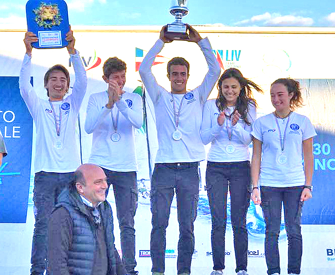 Italian Under 19 youth sailing league winners