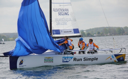 J/70 at mark- Sweden Sailing League