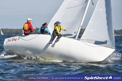 J/22 sailing around mark