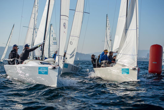 J/70s sailing Barcelona Winter series
