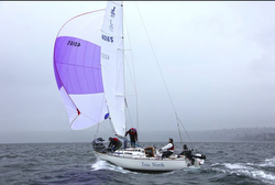J/27 sailing Puget Sound- first in class baby!!