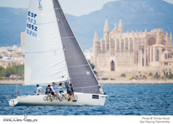 J/80 sailing off Palma Mallorca, Spain in PalmaVela