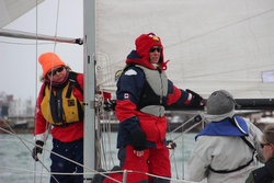 J/24 crews frostbiting in Boston