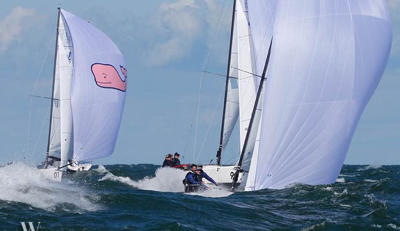 J/70 Team Vineyard Vines sailing