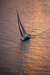 J/111 Blur.se sailing upwind off Denmark