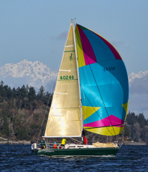 J/35 sailing off Seattle