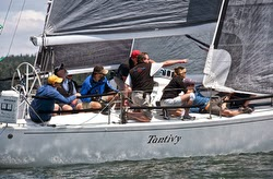 J/109 sailing at Whidbey Island