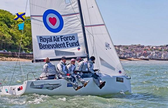 J/70 Spitfire sailing Round Island race off cowes, england