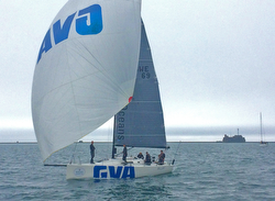 J/111 BLUR finishing at Plymouth, England- ROLEX Fastnet Race