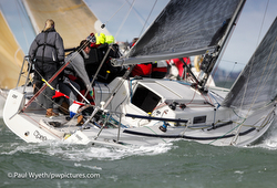 J/92s sailing Hamble winter series IRC 3