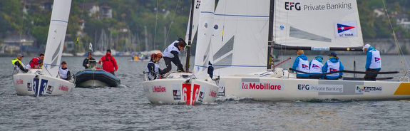 J/70s sailing Swiss League on Lake Constance