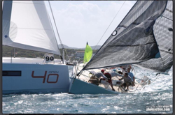 J/105 Solstice crash at Heineken St Maarten regatta