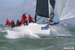 J/111 sailing JCup on the Solent, England
