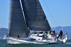 J/111 sailing Spinnaker cup race