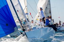 J/105 sailing Hot Rums Series off San Diego