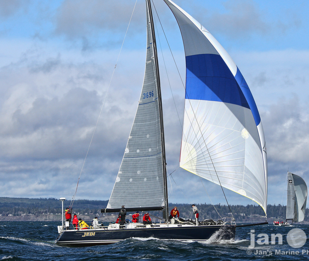 J/160 JAM sailing off Seattle, WA