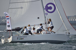 French women- sailing J/80 in World University Championship