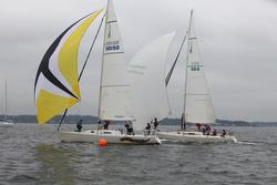 J/105s sailing Storm Trysail Intercollegiate regatta