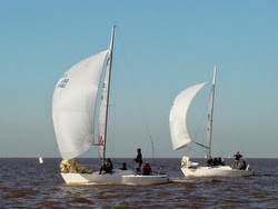 J/24s sailing off Buenos Aires, Argentina