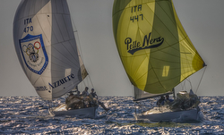 J/24 sailing Italy winter series