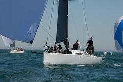 J/111 sailing off Australia- downwind chutes