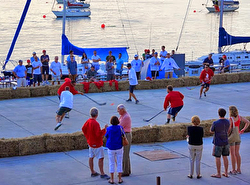 sailors street hockey game