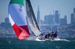 J/88 family speedster sailing downwind