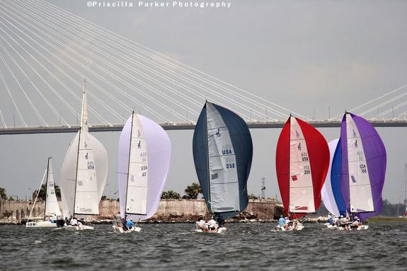 J/70s sailing at Charleston Harbor