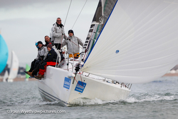J/109s sailing Hamble Winter series