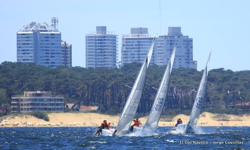 J/24s sailing off beach at Punta del Este, Uruguay