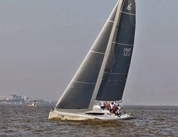 J/122E sailing off Mumbai, India