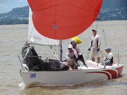 J/24 sailing Brazil South American championship