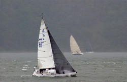 J/105 Russian Roulette sailing San Francisco Bay