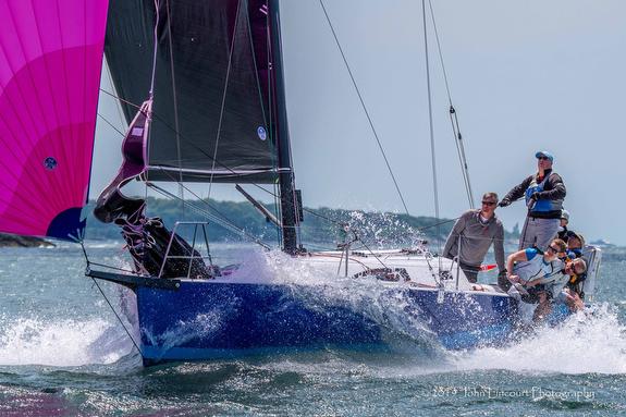 J/99 sailing off Newport, RI