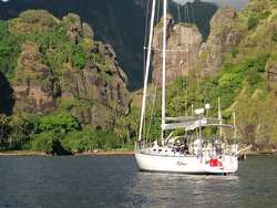 J/46 sailing off Marquesas Islands- South Pacific