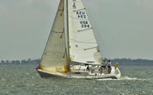 J/105 sailing Galveston Bay