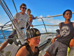 J/36 Paladin sailing off St Croix, US Virgin Islands with youth sailing team
