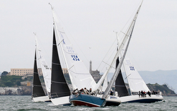 J/105s sailing J/Stop Regatta- San Francisco