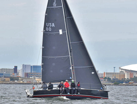 J/88 Wings sailing off St Petersburg, Florida