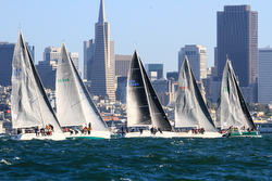 J/120s sailing San Francisco Bay