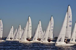 J/70s sailing Quantum Winter Series off Tampa, FL