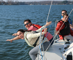 J/88 sailors on Lake Norman, NC