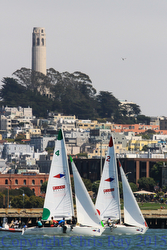 J/22s sailing San Francisco waterfront