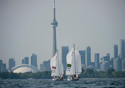 J/24s sailing Pan Am Games off Toronto, Canada