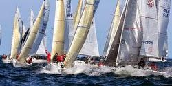 J/80 sailboats- sailing in Kiel, Germany