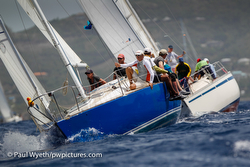 J/30 sailing Antigua Sailing Week