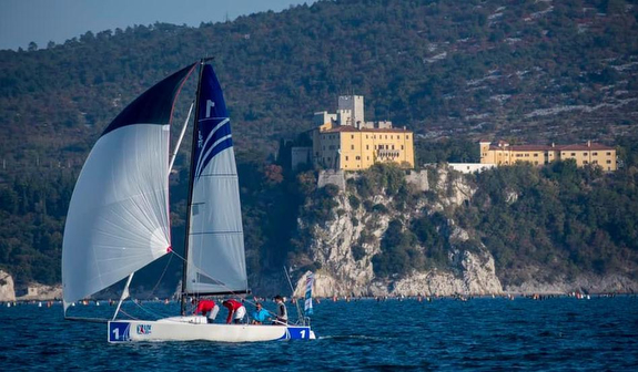 J/70s sailing off Trieste, Italy