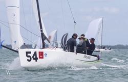 J/70 MUSE- Heather Gregg- sailing off Miami