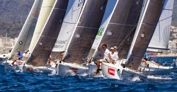 J/80 sailboats- sailing in Spain